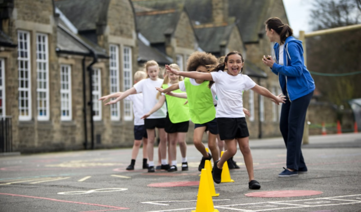 Getting physically active in the school playground