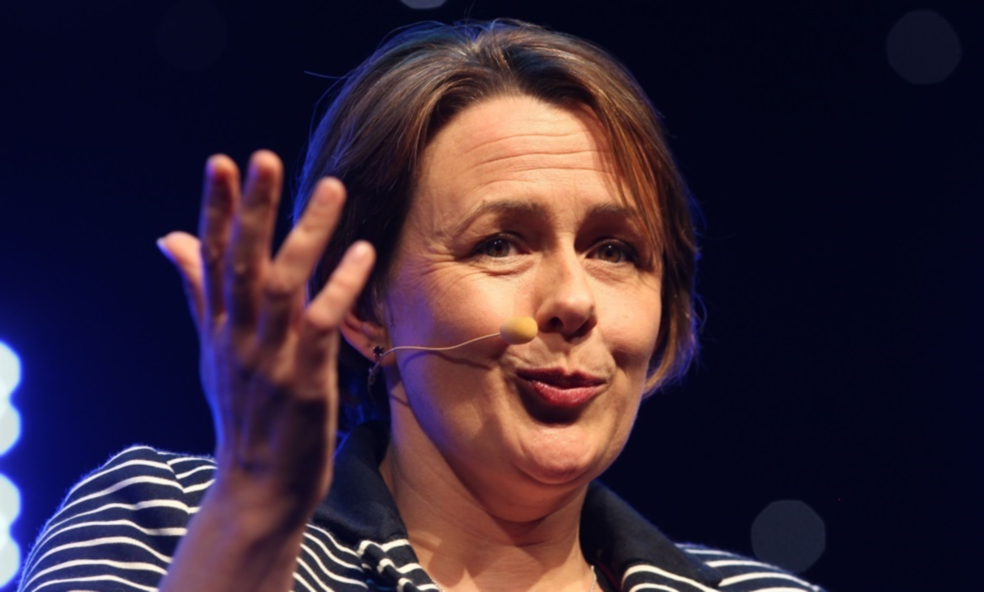 Baroness Tanni Grey-Thompson addresses an audience